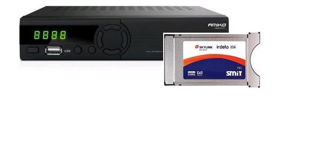 Amiko DVB-S2/T2 + SMIT CA modul Irdeto CI+