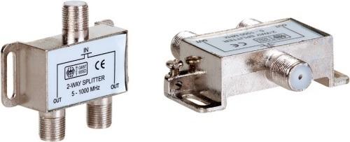 AQ KV312 - satelitní anténní rozbočovač - 1 x vstup, 2 x výstup, F konektory