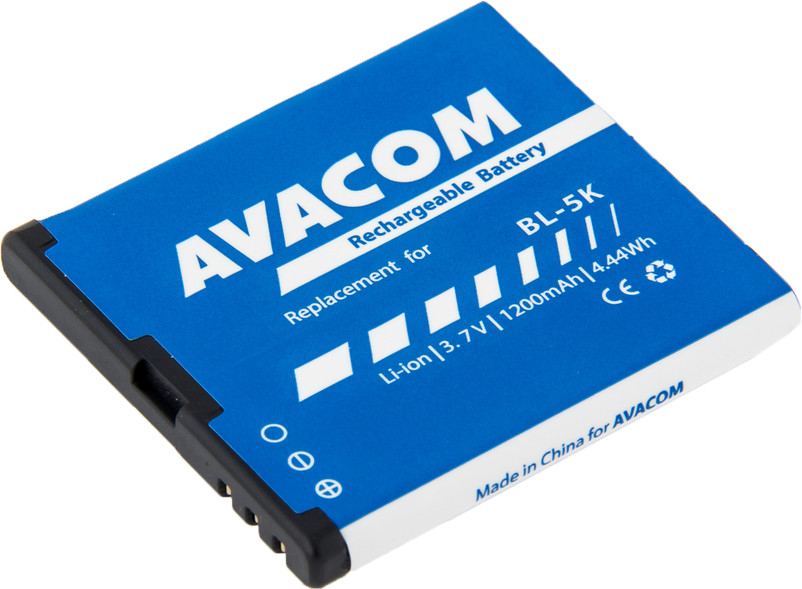 AVACOM GSNO-BL5K-S1200A Li-Ion 3,7V 1200mAh - neoriginální - Baterie do mobilu Nokia C7-00 Li-Ion 3,7V 1200mAh (náhrada BL-5K)