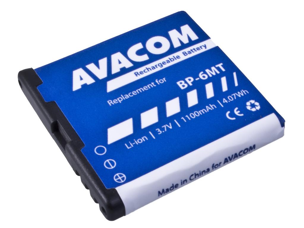AVACOM GSNO-BP6MT-S1100A Li-Ion 3,6V 1100mAh - neoriginální - Baterie do mobilu Nokia E51, N81, N81 8GB, N82, Li-Ion 3,6V 1100mAh (náhrada BP-6MT)