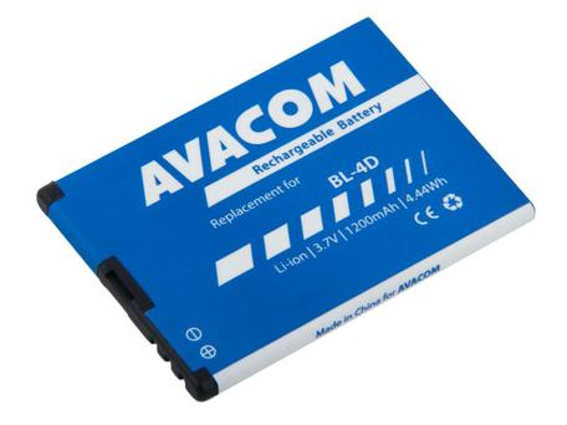 AVACOM GSNO-BL4D-S1200A Li-Ion 3,7V 1200mAh - neoriginální - Baterie do mobilu Nokia E7, N8 Li-Ion 3,7V 1200mAh (náhrada za BL-4D)