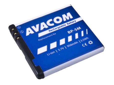 AVACOM GSNO-BP5M-S950A Li-Ion 3,7V 950mAh - neoriginální - Baterie do mobilu Nokia N81, 6500 Slide Li-Ion 3,7V 950mAh (náhrada BP-5M)