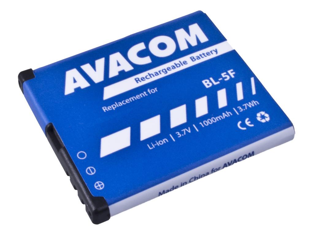 AVACOM GSNO-BL5F-S1000A Li-Ion 3,6V 1000mAh - neoriginální - Baterie do mobilu Nokia N95, E65, Li-Ion 3,6V 1000mAh (náhrada BL-5F)