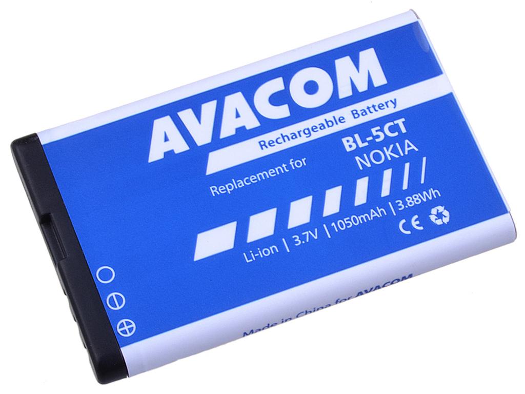 AVACOM GSNO-BL5CT-S1050A Li-Ion 3,7V 1050mAh - neoriginální - Baterie do mobilu Nokia 6303, 6730, C5, Li-Ion 3,7V 1050mAh (náhrada BL-5CT)
