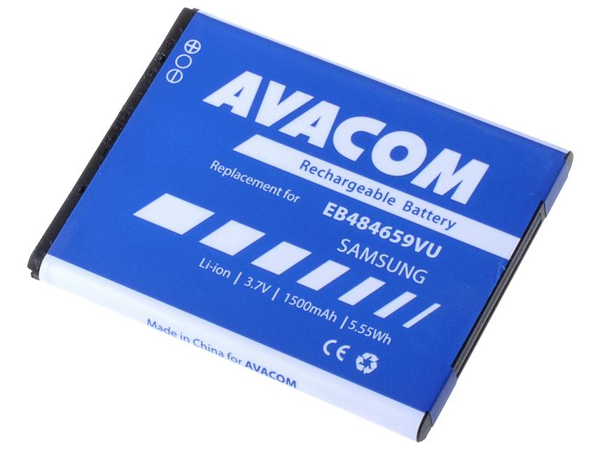 AVACOM GSSA-S5820-S1500A Li-Ion 3,7V 1500mAh - neoriginální - Baterie do mobilu Samsung Galaxy W Li-Ion 3,7V 1500mAh (náhrada EB484659VU)