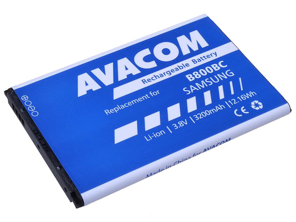 AVACOM GSSA-N9000-S3200A Li-Ion 3,7V 3200mAh - neoriginální - Baterie do mobilu Samsung N9005 Galaxy NOTE 3, Li-Ion 3,7V 3200mAh (náhrada EB-B800BEB)