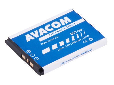 AVACOM GSSE-J300-S780 Li-Ion 3,7V 780mAh - neoriginální - Baterie do mobilu Sony Ericsson J300, W200 Li-Ion 3,7V 780mAh (náhrada BST-36)