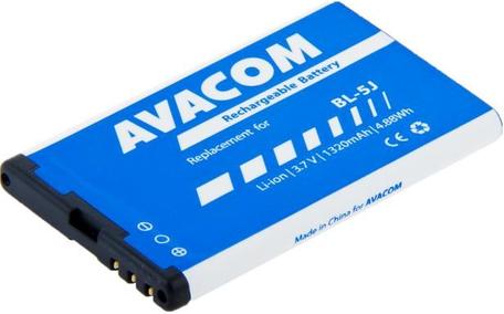 AVACOM GSNO-BL5J-S1320 Li-Ion 3,7V 1320mAh - neoriginální - Baterie do mobilu Nokia 5230, 5800, X6 Li-Ion 3,7V 1320mAh (náhrada BL-5J)