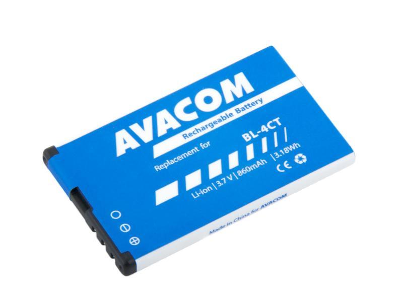 AVACOM GSNO-BL4CT-S860 Li-Ion 3,7V 860mAh - neoriginální - Baterie do mobilu Nokia 5310 XpressMusic Li-Ion 3,7V 860mAh (náhrada BL-4CT)
