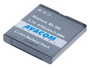 AVACOM GSNO-BL6Q-S970 Li-ion 3,7V 970mAh - neoriginální - Baterie do mobilu Nokia 6700 Classic Li-ion 3,7V 970mAh (náhrada BL-6Q)