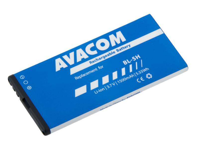 AVACOM GSNO-BL5H-S1500 Li-Ion 3,7V 1500mAh - neoriginální - Baterie do mobilu Nokia Lumia 630, 635 Li-Ion 3,7V 1500mAh (náhrada BL-5H)