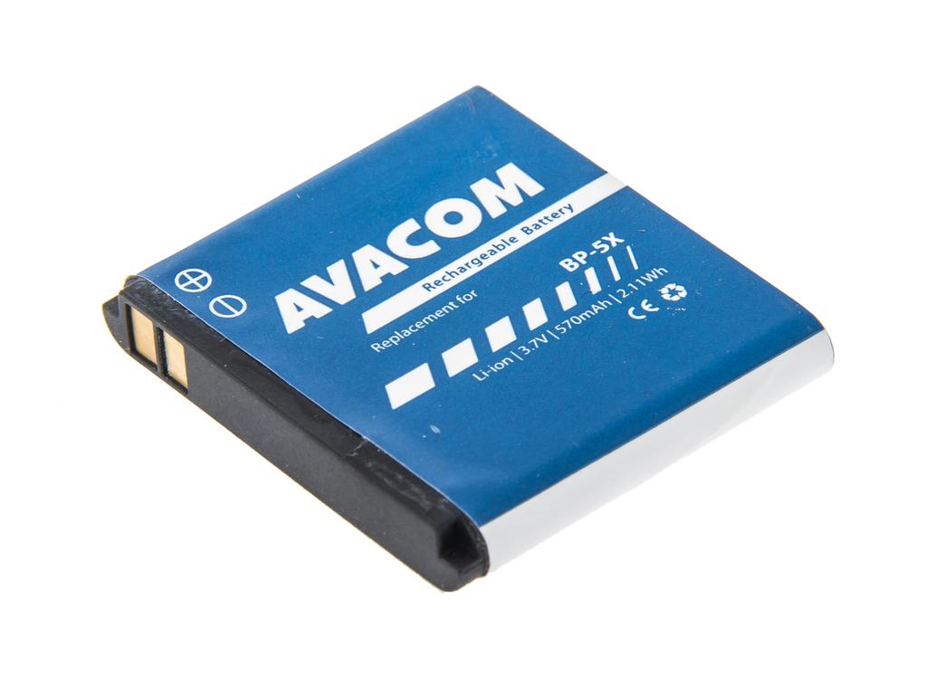 AVACOM GSNO-BL5X-S570 Li-Ion 3,7V 570mAh - neoriginální - Baterie do mobilu Nokia 8800 Li-Ion 3,7V 570mAh (náhrada BL-5X)