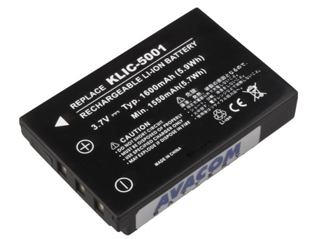 AVACOM DIKO-5001-382 Li-Ion 3.7V 1600mAh - neoriginální - Baterie Kodak KLIC-5001 Li-Ion 3.7V 1600mAh 6Wh