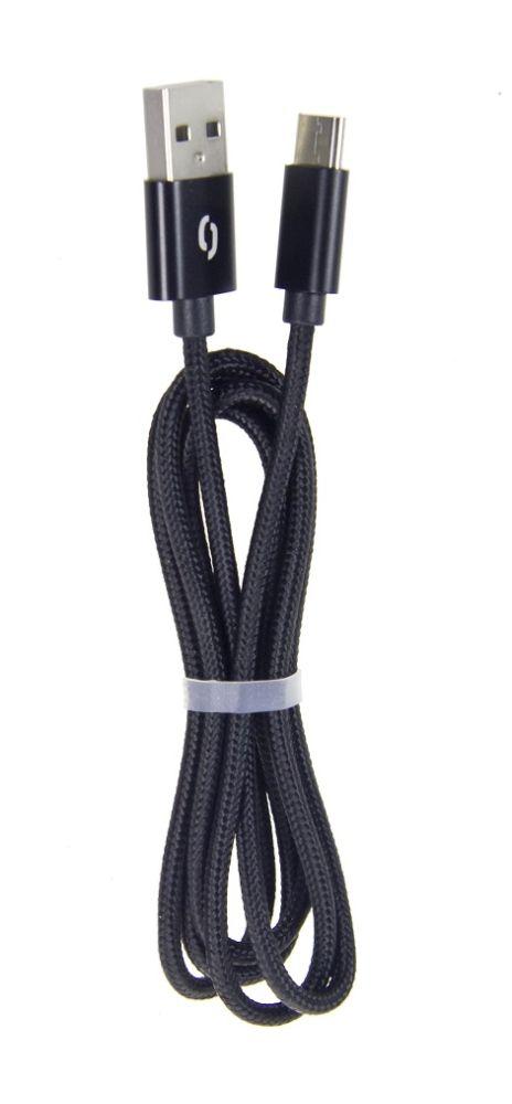 ALIGATOR TUBA 2A nabíjecí kabel microUSB černý (DAKT001)