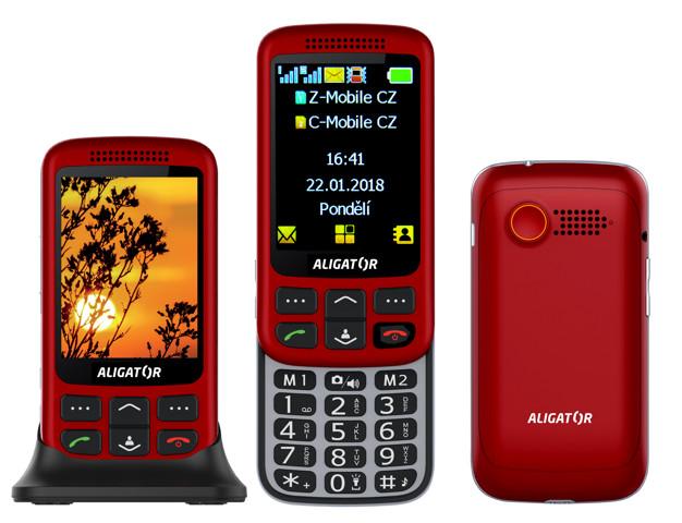 Aligator VS900 Senior červená/stříbrná