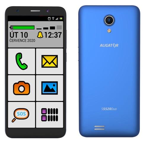 Aligator S5520 Duo 16GB SENIOR modrá