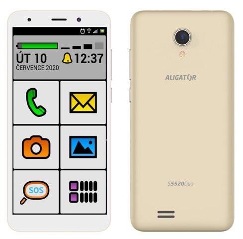 Aligator S5520 Duo 16GB SENIOR zlatá