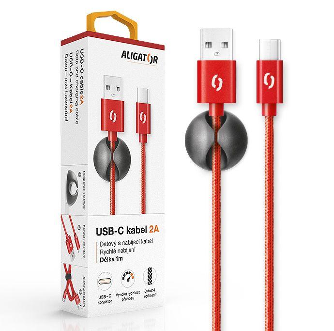 Aligator Datový kabel premium 2A, USB-C (DATKP12)