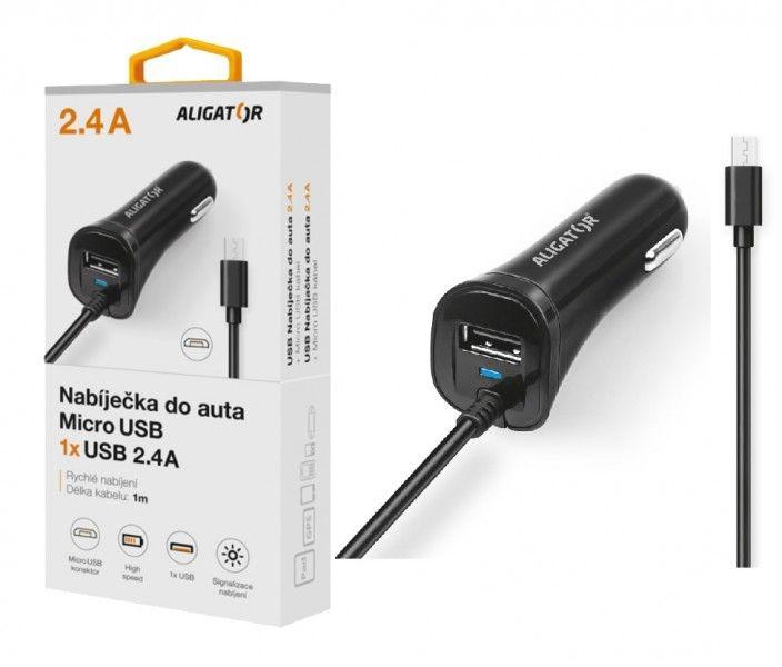 ALI AN 2,4A, MicroUSB+USB,černá CHA0027