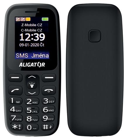 Aligator A220 Senior Dual SIM černý