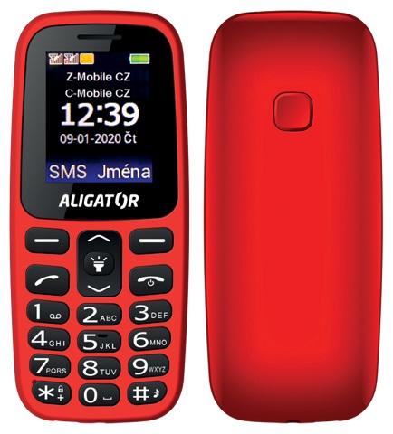 Aligator A220 Senior Dual SIM červený