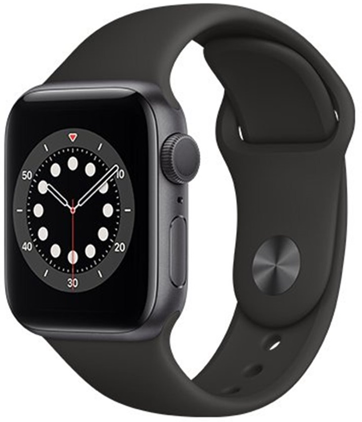 Apple Watch Series 6 44mm Vesmírně šedý hliník s černým sportovním řemínkem + DOPRAVA ZDARMA