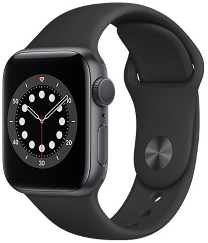 Apple Watch Series 6 40mm Vesmírně šedý hliník s černým sportovním řemínkem + DOPRAVA ZDARMA