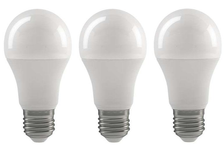 Emos 3x LED žárovka Classic A60 9W E27 teplá bílá