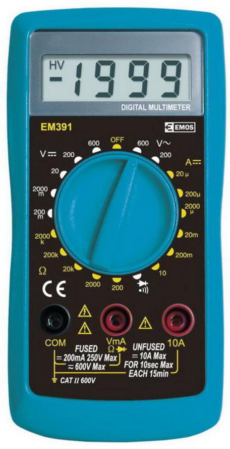 Levně Emos zásuvka M0391 Měřící přístroj - multimetr Em391