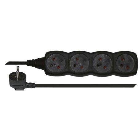 EMOS PC0415 Prodlužovací kabel černý 4 zásuvky 5m - Emos P0415C
