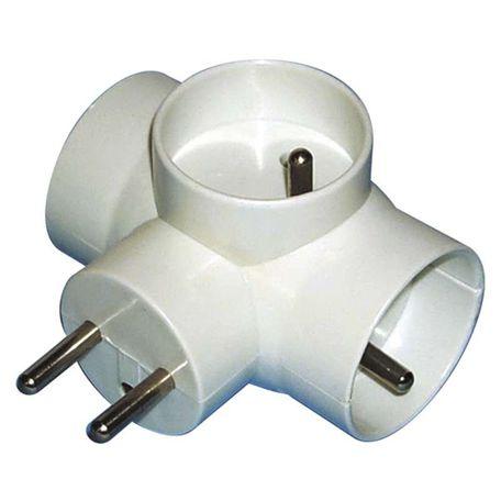 EMOS P0024 zásuvka rozboč.3xkul. - zásuvka rozbočovací 3 x kulatá P0024