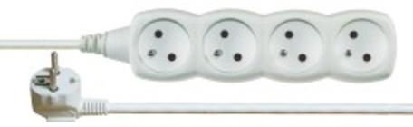 EMOS P0417 Prodlužovací kabel bílý 4 zásuvky 7m - Prodlužovací kabel 7m 4 zásuvky bílý