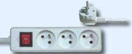Emos Prodlužovací kabel s vypínačem – 3 zásuvky, 10m, bílý