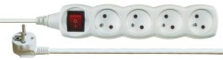 EMOS P1410 Prodlužovací kabel bílý s vypínačem 4 zásuvky 10m