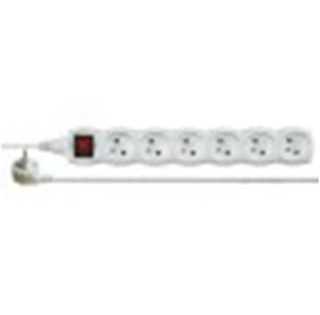 EMOS P1615 Prodlužovací kabel bílý s vypínačem 6 zásuvky 5m