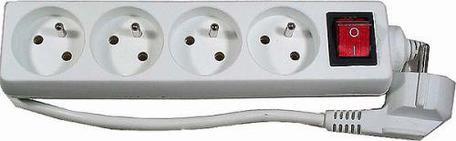 EMOS P1417 Prodlužovací kabel bílý s vypínačem 4 zásuvky 7m