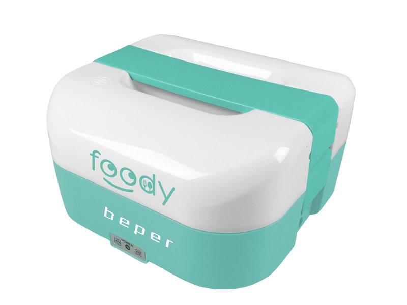 BEPER BC160A elektrický obědový a jogurtovač 2v1, 1.6l, duální napájení, modrý