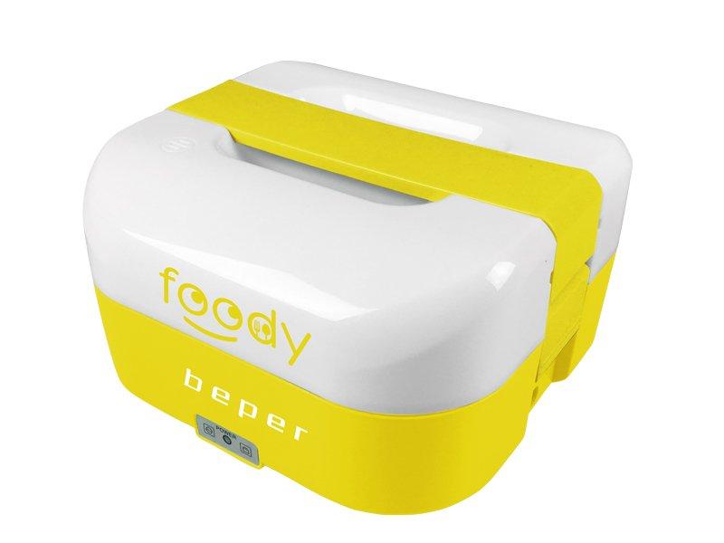 BEPER BC160A elektrický obědový a jogurtovač 2v1, 1.6l, duální napájení, žlutý