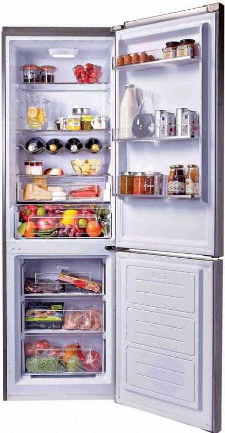 Candy lednice s mrazákem dole Chsb 6186X
