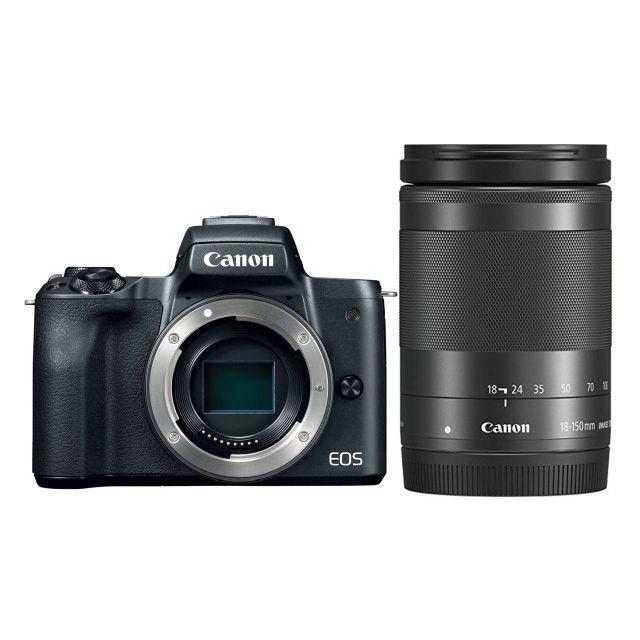 Canon EOS M50 černá + EF-M 18-150