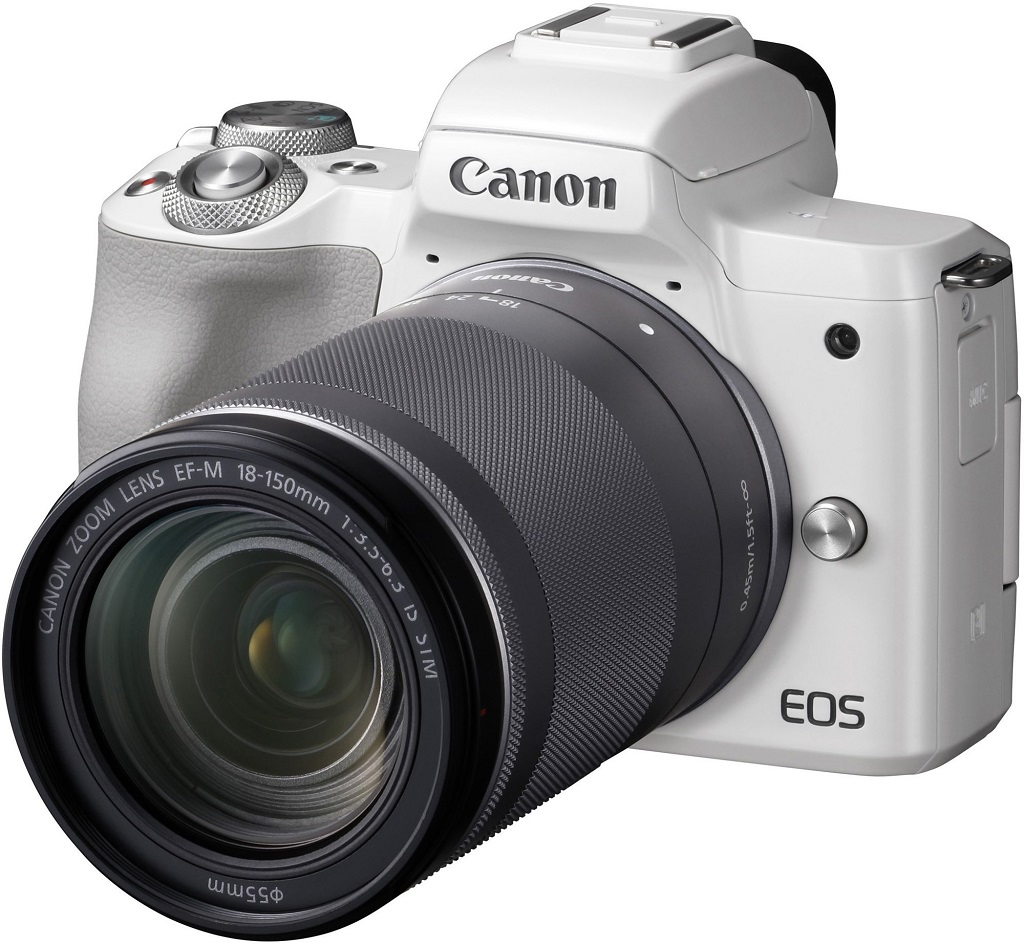 Canon EOS M50 bílá + EF-M 18-150