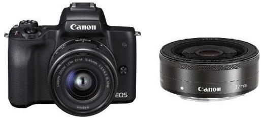 Canon EOS M50 černá + EF-M15-45 + EF-M22