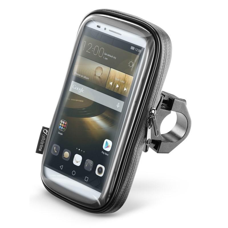 """Interphone SMART pro telefony do velikosti 6.5"""" úchyt na řídítka - Pouzdro Cellularline Voděodolné na řidítka,do 6,5"""""""