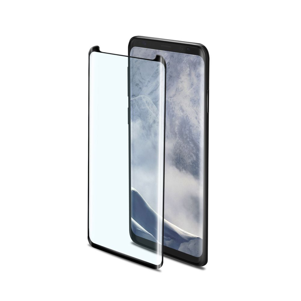 Ochranné tvrzené sklo CELLY 3D Glass pro Samsung Galaxy S9, černé (sklo do hran displeje, anti blue-