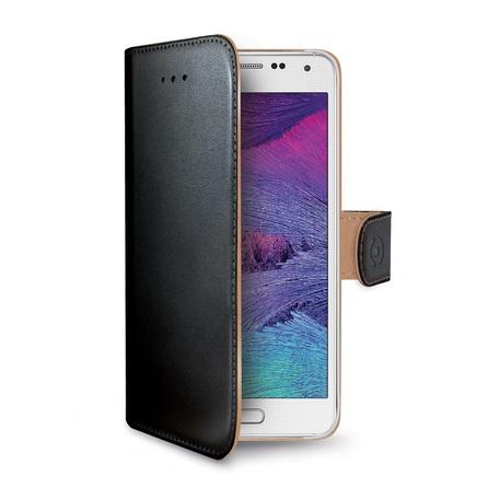 Pouzdro typu kniha CELLY Wally pro Samsung Galaxy S6, PU kůže, černé