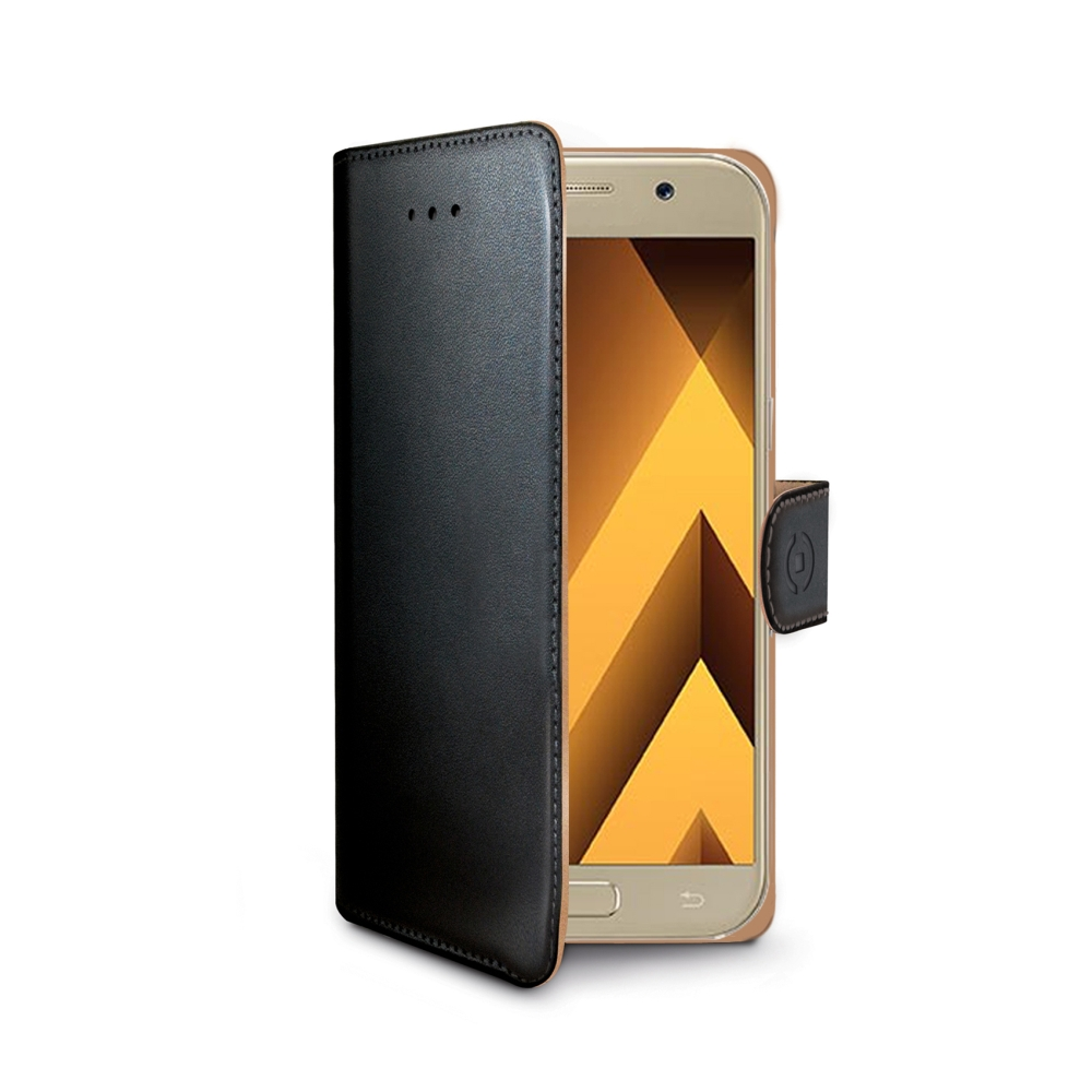 Pouzdro typu kniha CELLY Wally pro Samsung Galaxy A5 (2017), PU kůže, černé