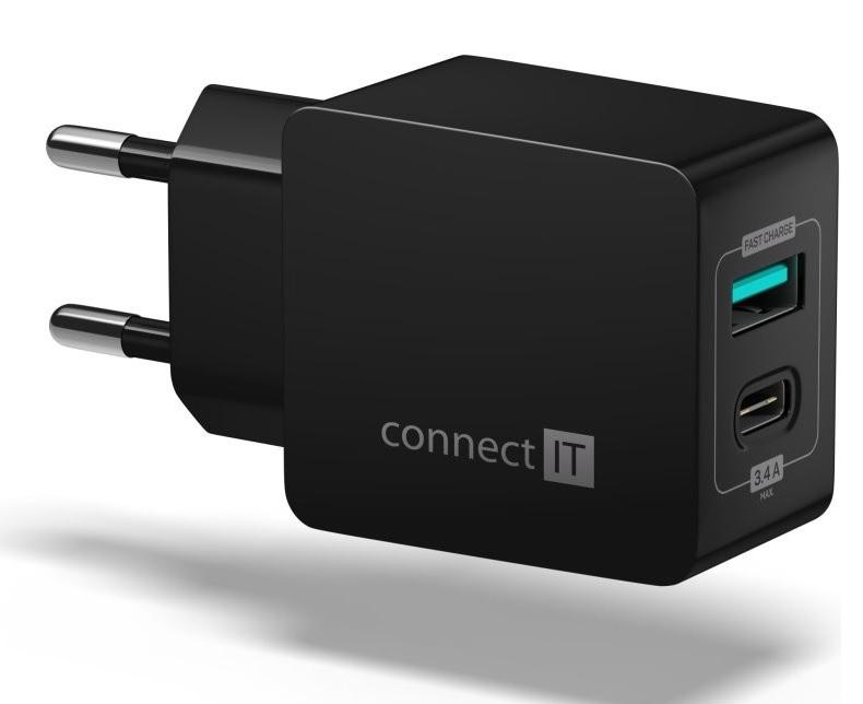 Connect IT Fast Charge CWC-2030-BK černá - Nabíječka Connect IT CWC-2030 - neoriginální