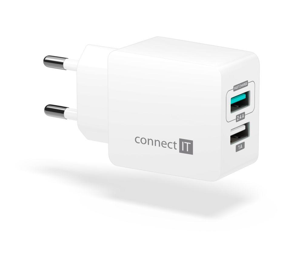 Connect IT Fast Charge CWC-2015-WH, bílý - Nabíječka Connect IT CWC-2015 - neoriginální