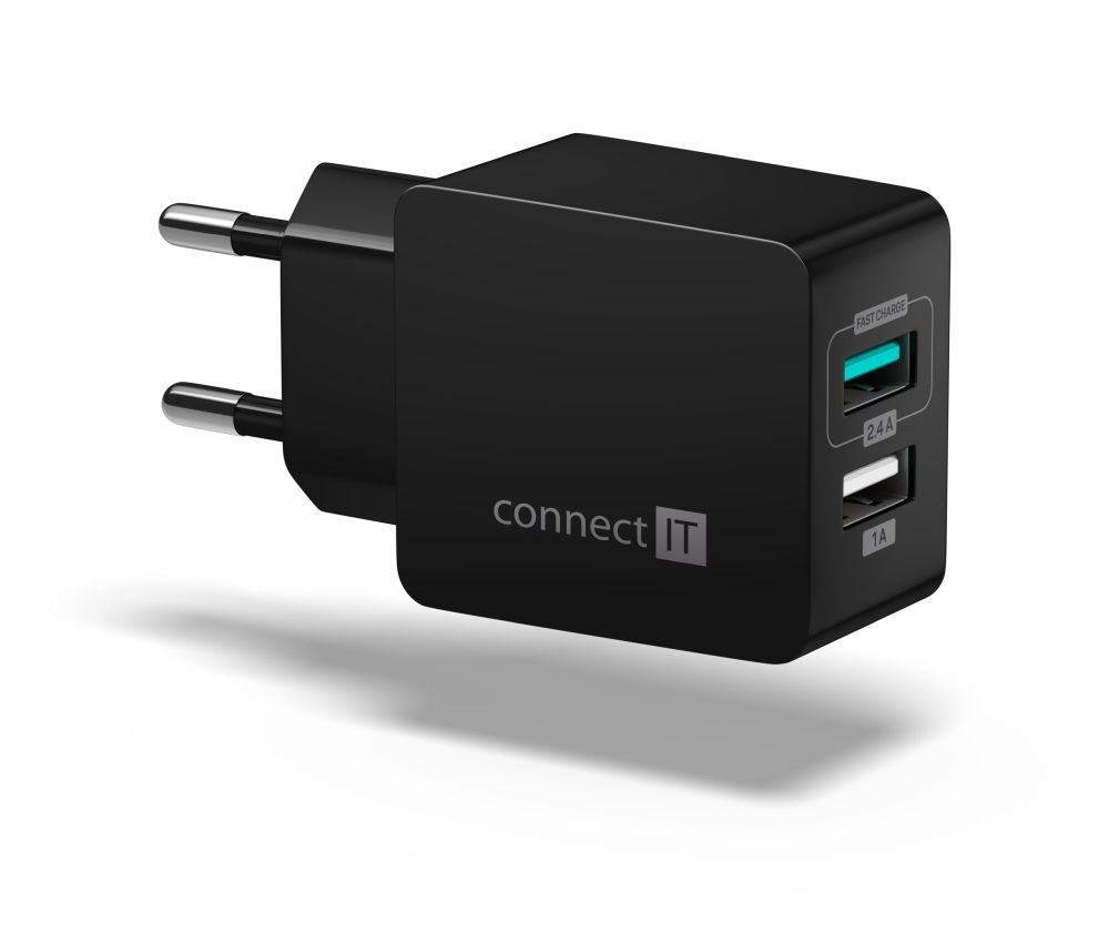 Connect IT Fast Charge CWC-2015-BK, černý - Nabíječka Connect IT CWC-2015 - neoriginální