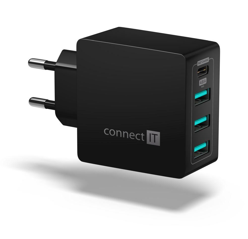 Connect IT Fast Charge CWC-4060-BK, černý - Nabíječka Connect IT CWC-4060 - neoriginální